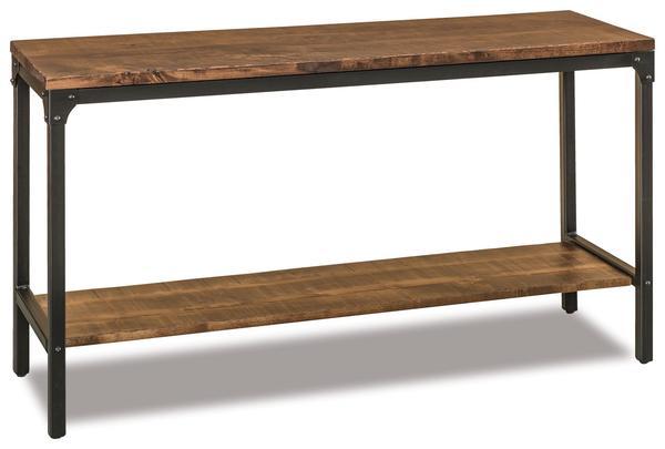 Amish Houston Sofa Table with shelf