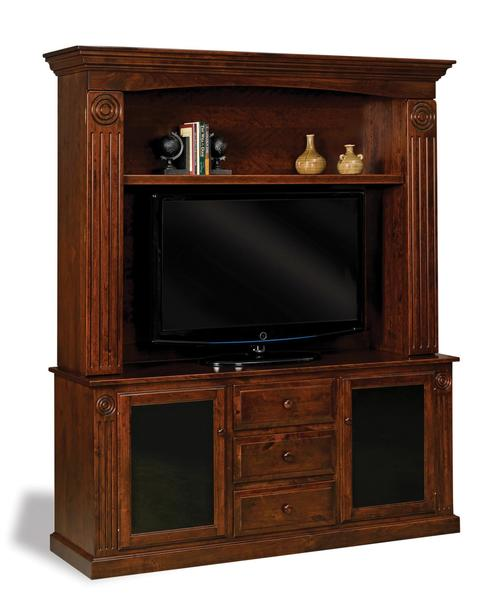Amish Victorian Glass Door Entertainment Center