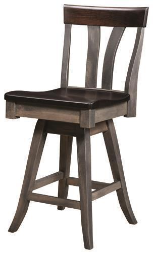 Amish Small Lennox Bar Stool with Swivel Seat