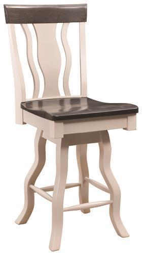 Amish Liberty Swivel Barstool