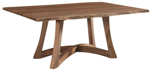 Amish Tifton Dining Table with Live Edge