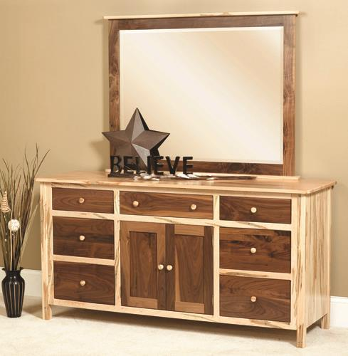 Amish Cornwell Deluxe Dresser with Optional Mirror
