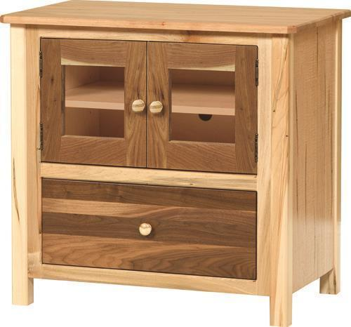 Amish Cornwell Small TV Stand with Doors