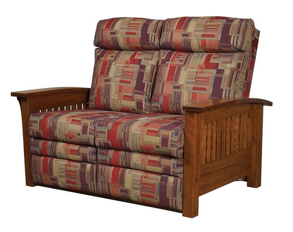 Amish Mission Recliner Loveseat