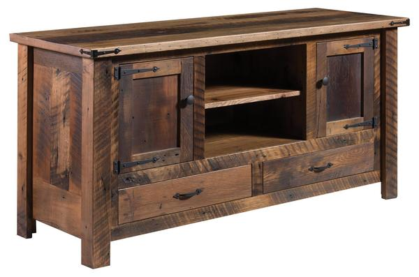 "Amish Tiverton 60"" TV Stand with Center Opening"