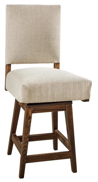Amish Canaan Upholstered Bar Stool with Swivel