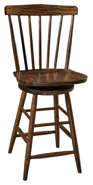 Amish Cantaberry Swivel Bar Stool