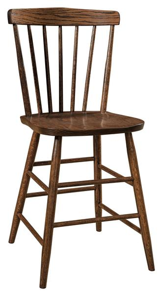 Amish Cantaberry Bar Stool