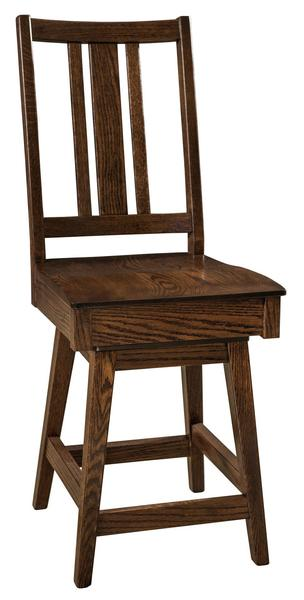 Amish Eco Mission Swivel Bar Stool