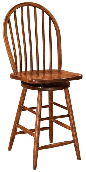 Amish Econo Windsor Swivel Bar Stool