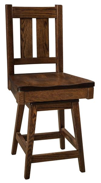 Amish Knoxville Stool with Swivel