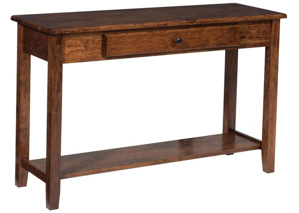 Amish Amazon Sofa Table with Drawer