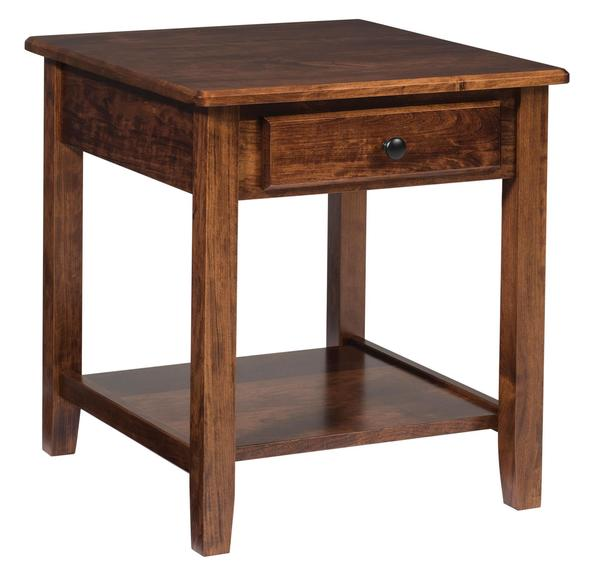 Amish Amazon End Table with Drawer