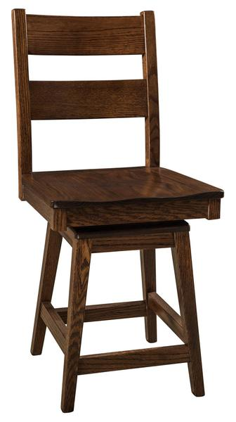 Amish Memphis Stool with Swivel
