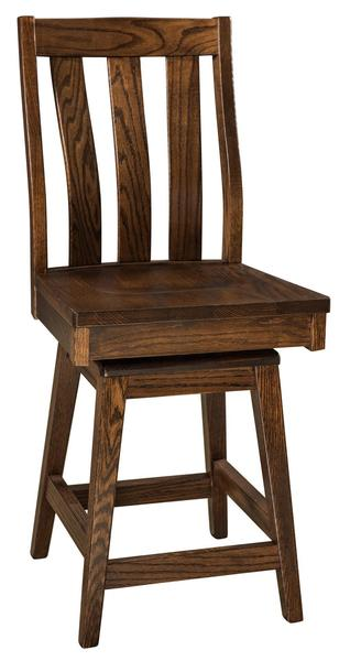 Amish Salem Swivel Bar Stool