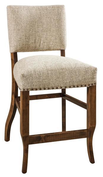 Amish Tiana Upholstered Bar Stool