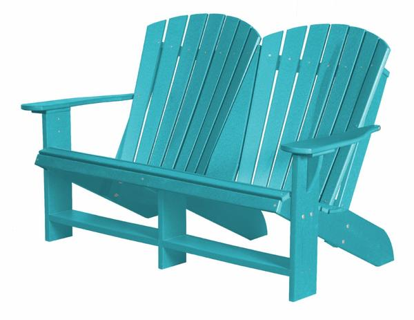 Outdoor Poly Furniture Heritage Double Adirondack Chair