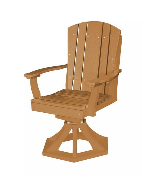EcoPoly Lumber Outdoor Heritage Swivel Dining Chair