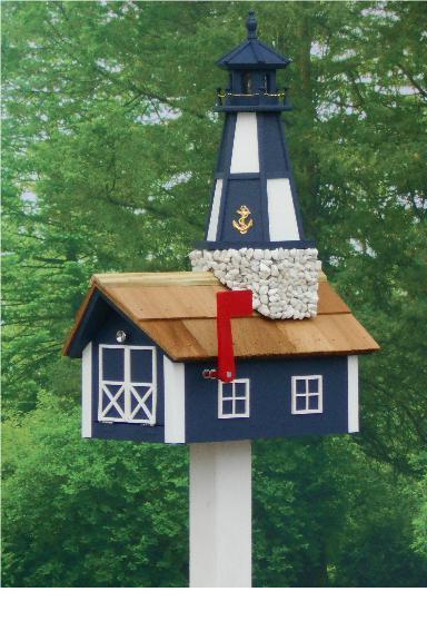 Amish Cape Henry Lighthouse Mailbox