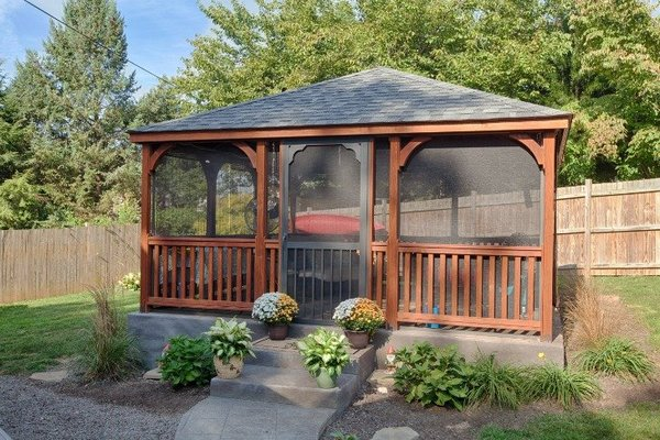 Amish Rectangular Wood Gazebo Kit