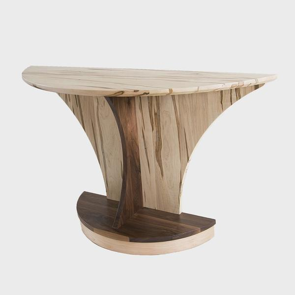 Amish Sedona Half Round End Table