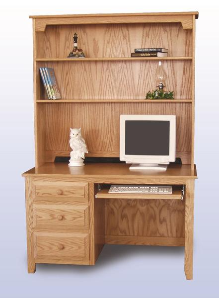 Amish Student Desk with Optional Desk Hutch