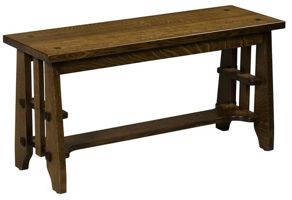 Amish Heritage Stick Mission Guest Bench