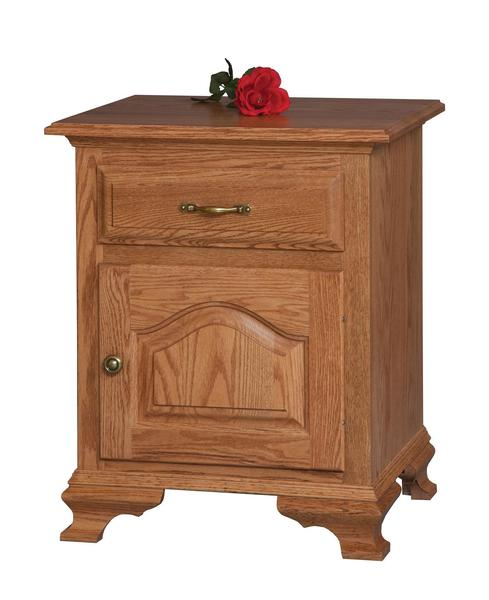 Amish Crown Villa 1-Drawer 1-Door Nightstand
