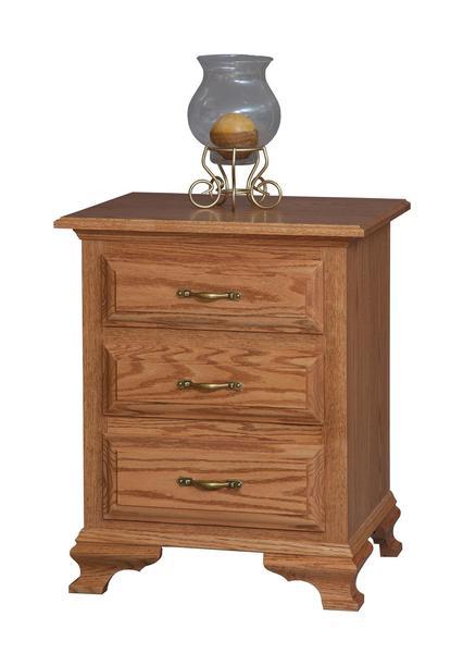 Amish Los Altos Three Drawer Nightstand