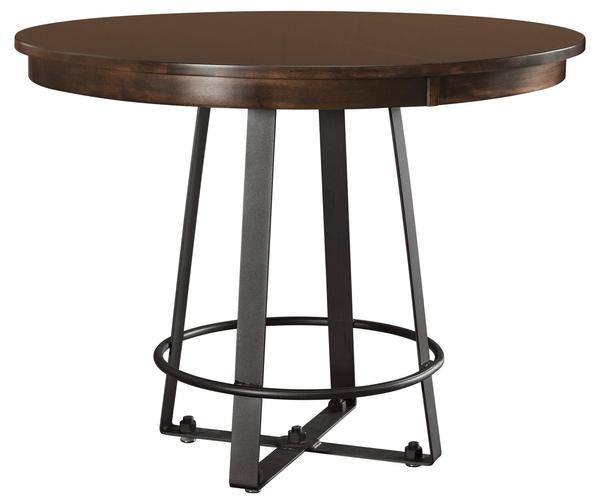 Amish Iron Craft Round Dining Table