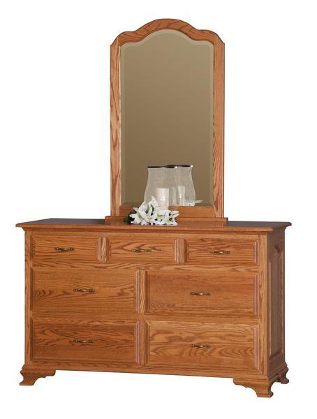 "Amish Los Altos 56"" Dresser with Optional Center Mirror"