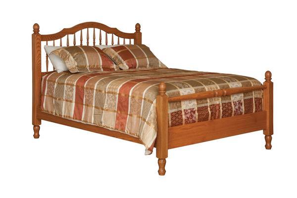 Amish Crown Villa Spindle Bed