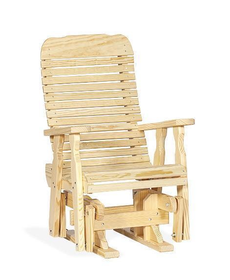 Amish Pine Wood Easy Single Glider