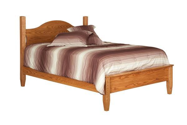 Amish English Shaker Crescent Bed