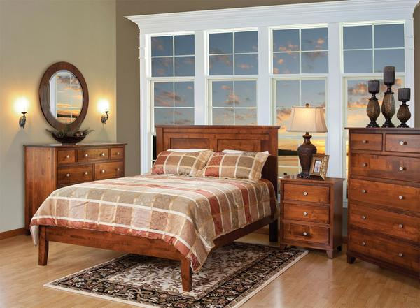 Amish Hyland Park Panel Bed