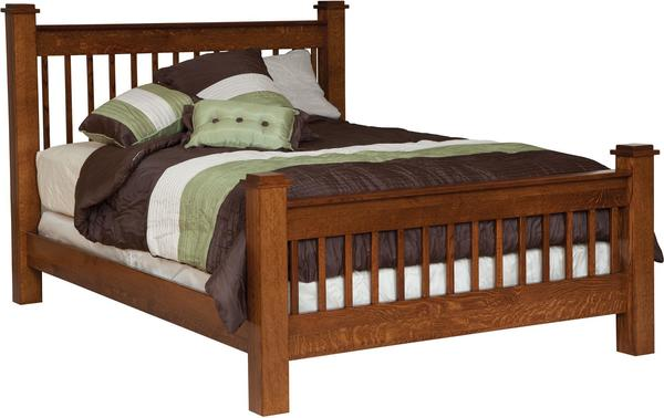 Amish Michael's Mission Slat Bed