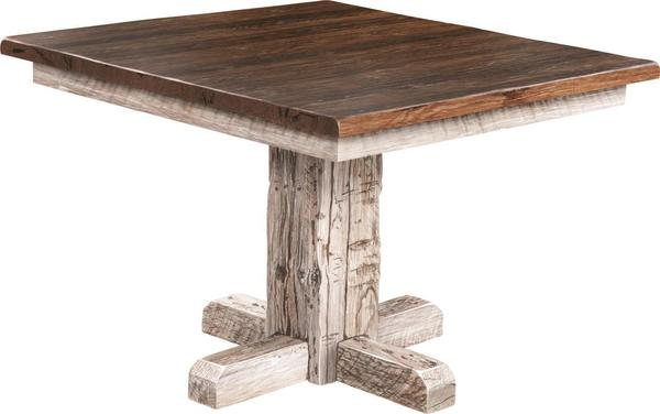 Amish Settler's Single Pedestal Dining Table