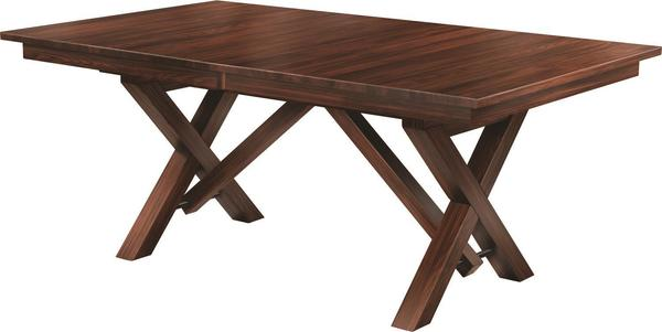 Amish Houston Double Pedestal Dining Table
