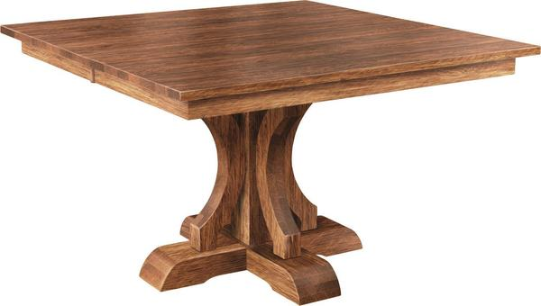 Amish Franklin Single Pedestal Dining Table