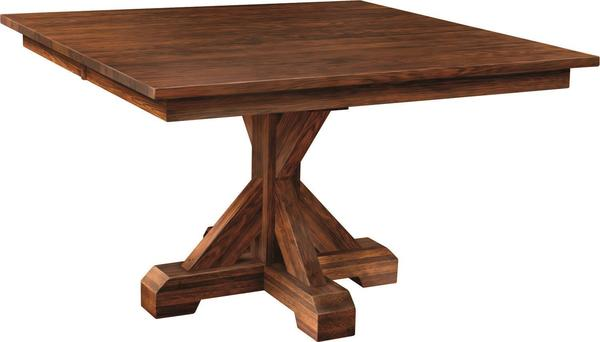 Amish Counrty Auburn Single Pedestal Dining Table