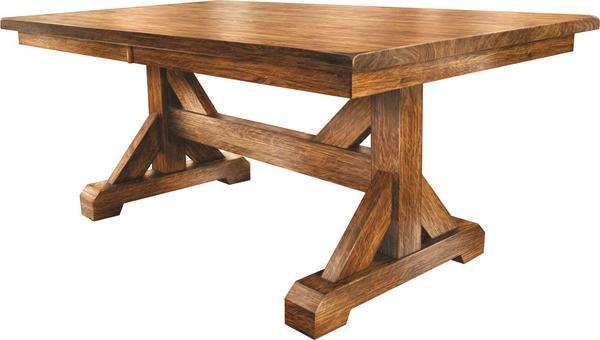 Amish Counrty Auburn Trestle Dining Table