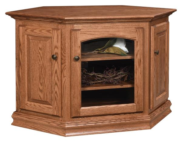 Amish Traditional Cornwall Corner TV Stand
