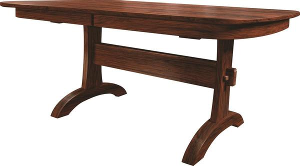 Amish Cedar Creek Trestle Dining Table