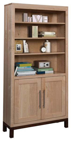 """Amish 36"""" Vienna Bookcase with Optional Doors"""