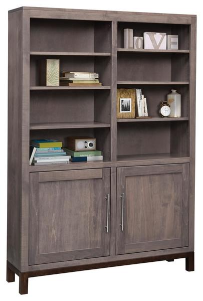 """Amish 48"""" Vienna Bookcase with Optional Doors"""