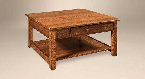 "Amish Contemporary Mission 36"" Square Coffee Table"