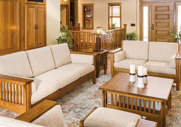 Amish Pioneer Mission Living Room Furniture Set