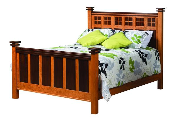 Amish Maple Creek Panel Bed