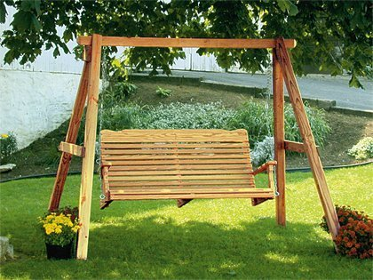 Amish Pine Curve Back Porch Swing