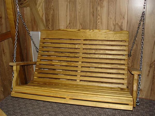 Amish Leisure Lawns Pine Curve Back Porch Swing